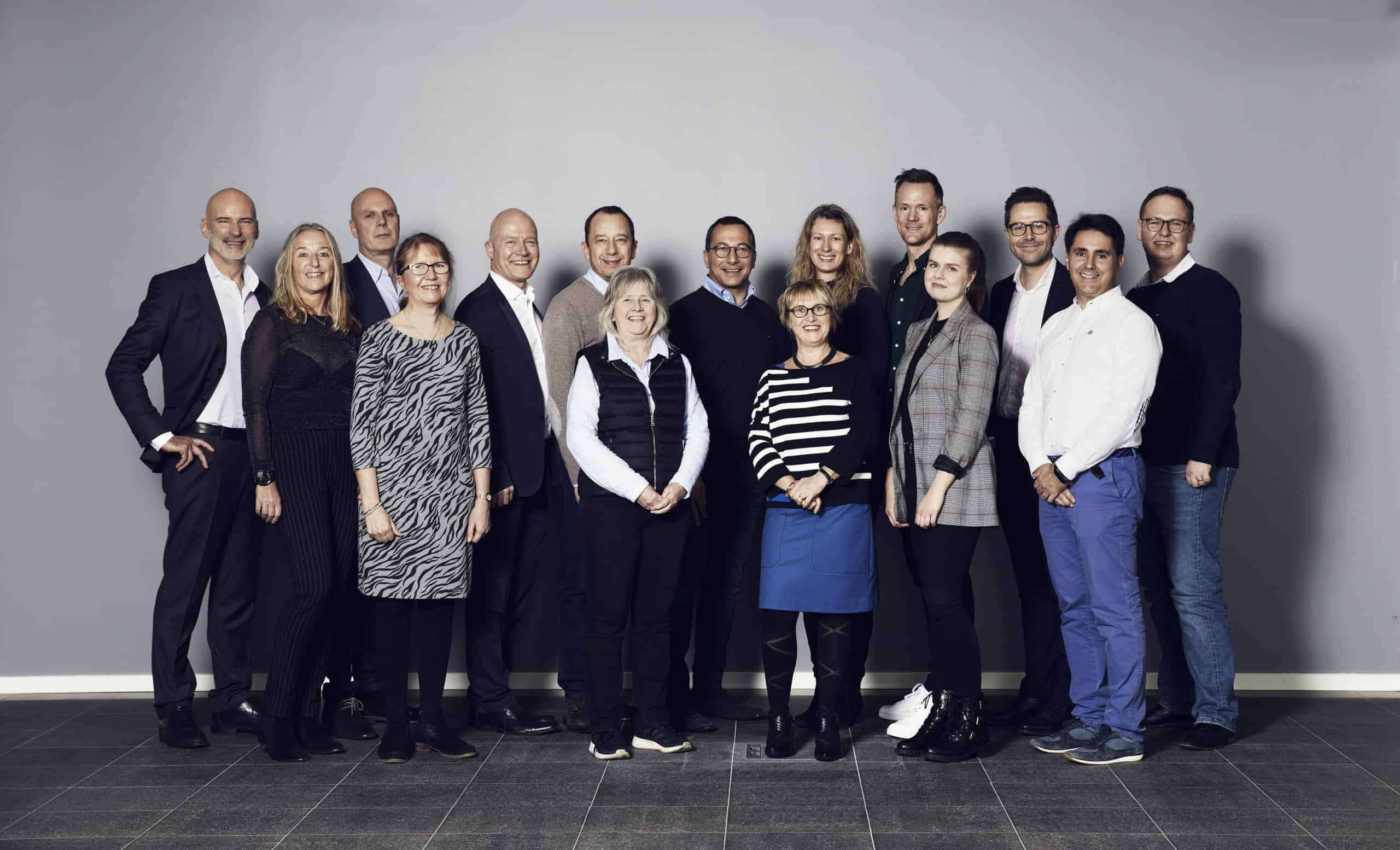 Group photo of the people working at ViroGates January 2020